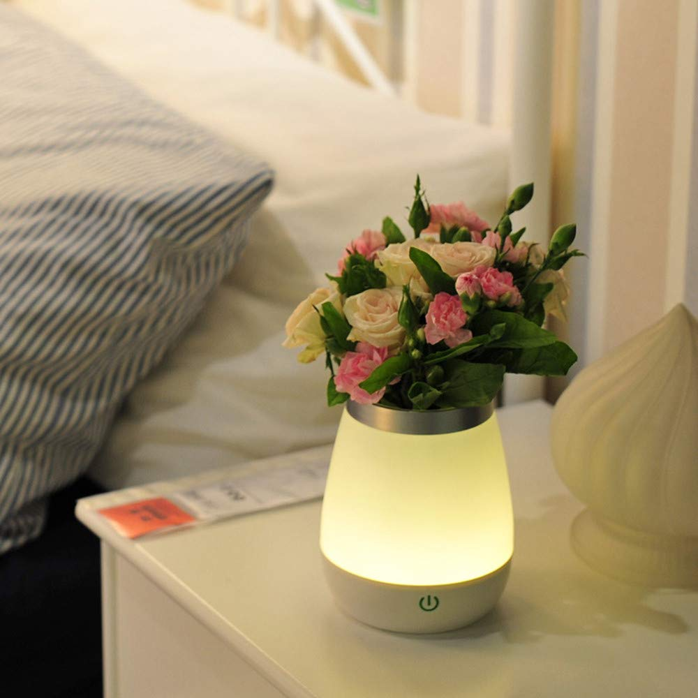 Basde LED Night Light, Vase Table Lamp LED Rechargeable Night Light with Sensor Desk Bedsies Lamp Touch Control for Baby Room Bedroom Living Room and Office Decorations