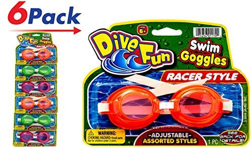 2GoodShop Goggles Swim Dive Set (Pack of 6) Summer Pool & Sea Underwater Goggle 1170-6