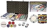 New Premium 750 Clay Composite 11.5 gram Diamond Suited Poker Chips Set w/6 Dealer Buttons