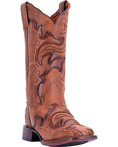 Dan Post Womens Queen Western Boot Square Toe - Dp4612 Marrone