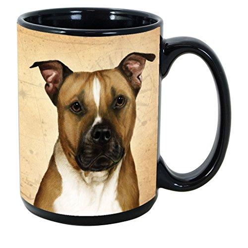 Imprints Plus Dog Breeds (E-P) Pit Bull 15-oz Coffee Mug Bundle with Non-Negotiable K-Nine Cash (pit bull 125)