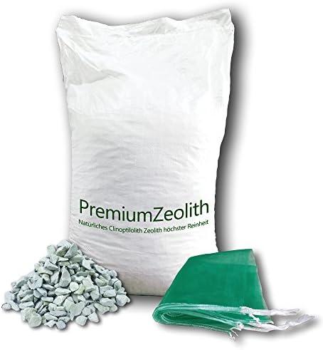 25 kg ZEOLITH 5-8 mm +2 Filtersäcke Filtermaterial Teichfilter Aquarium Gartenteich Filtermedium Filter Phosphatbinder Zeoliet Celolit Zelolit Zeolite