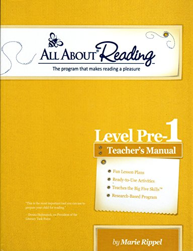 All About Reading Level Pre-reading (aka Pre-1) Teachers Manual (All About Reading)
