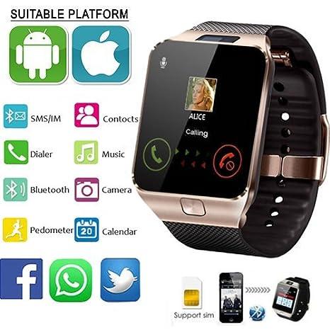 Amazon.com: DZ09 reloj inteligente bluetooth teléfono para ...