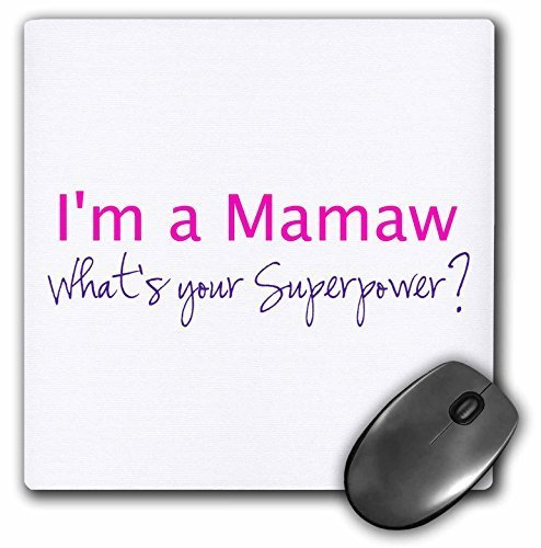 3drose I'm A Mama What's Your Superpower - Hot Pink - Funny Gift for Grandma - Mouse Pad by 3dRose (Image #1)'