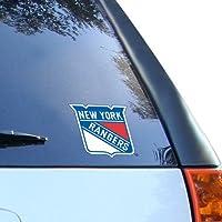 "NHL New York Rangers 3.75"" x 4"" Window Cling"