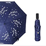 Ultra light Mini Compact Travel Umbrella Windproof Folding Golf Umbrella With 95% UV Protection (B)
