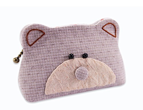 Bear Purse Beginner Sewing Project Kit Children's Fashion Craft Kit for Kids Teens Girls Adults (Purple) by SuSE Inc.