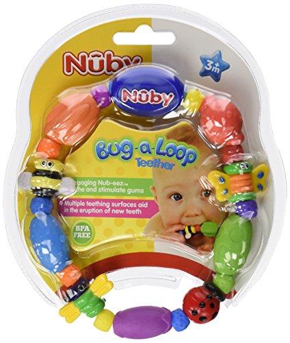 Nuby Bug Une perle boucle de dentition, les couleurs peuvent varier