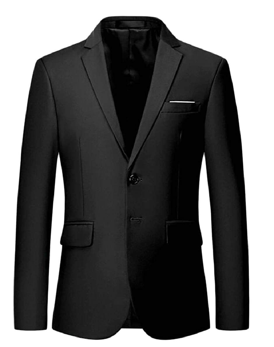 Xswsy XG-CA Mens Slim Regular Fit Lapel Solid 2 Button Business Suit Blazer Jacket