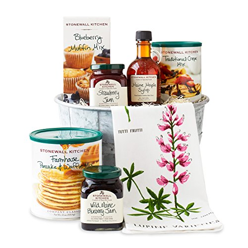 Stonewall Kitchen Breakfast Gift Baskets and Sets (7 Piece Easter Breakfast Gift) (Best Breakfast Gift Baskets)