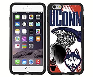 University of Connecticut UCONN Blue, Red, and White College Basketball Sports RUBBER Snap on Phone Case (iPhone 6)