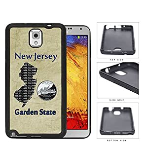 New Jersey State Tag Grunge Scraped Rubber Silicone TPU Cell Phone Case Samsung Galaxy Note 3 III N9000 N9002 N9005