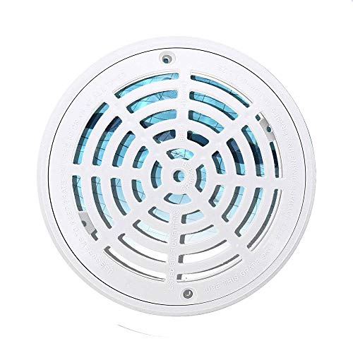 - Candora 8 Inch Replacement White Universal Round Swimming Pool Main Drain Cover