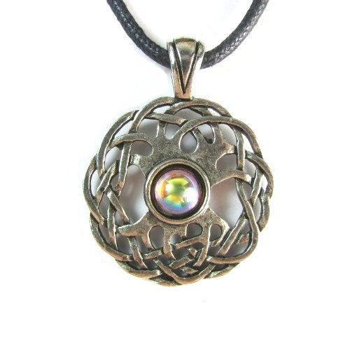 Celtic Sexuality Pewter Pendant on Corded Necklace, Celtic Harmony Collection Pendant Corded Necklace