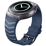Watch Band, Sandistore uxury TPU Silicone Watch Band Strap for Samsung Galaxy Gear S2 SM-R720 (Blue)