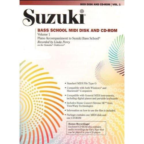 School Midi Disk (Suzuki Bass School MIDI Disk Acc./CD-ROM, Volume 1 (The Suzuki Method Core Materials))
