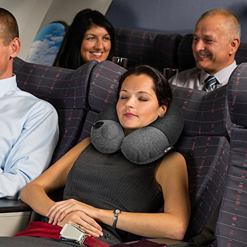 Kmall Inflatable Travel Neck Pillow for Airplane Travel Best Neck Support Sleep Travel Pillow with Super Comfort Pillow Case by Kmall (Image #6)