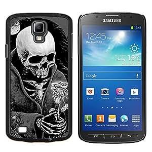 "Be-Star Único Patrón Plástico Duro Fundas Cover Cubre Hard Case Cover Para Samsung i9295 Galaxy S4 Active / i537 (NOT S4) ( Muerte Parca Negro Rosa Blanca"" )"