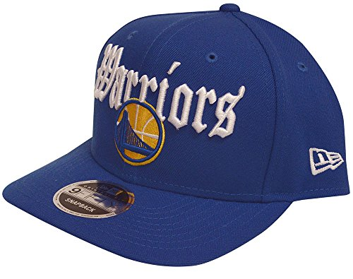 New Era Golden State Warriors Classic Curve Script Snapback Hat Blue