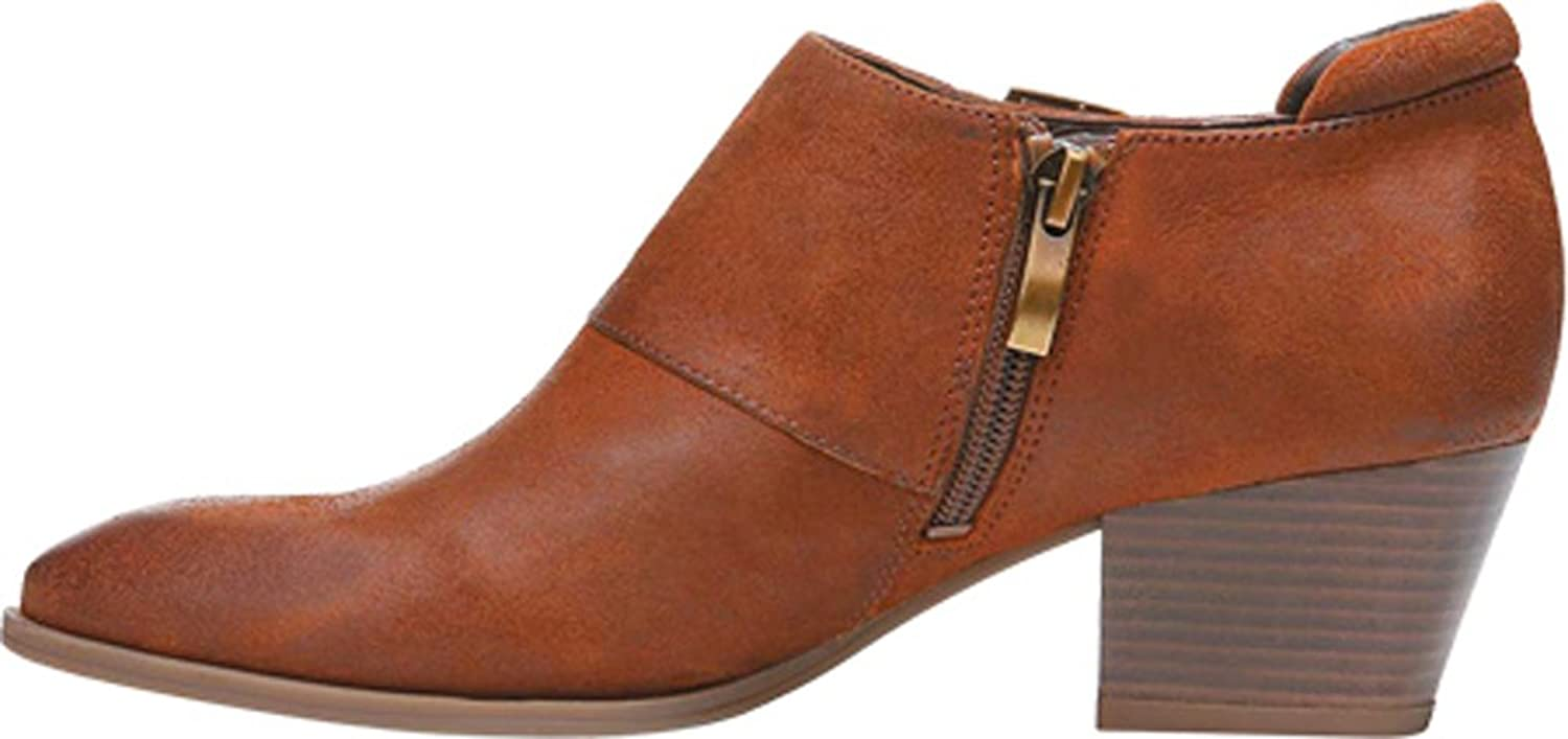 Franco Sarto Genna Womens Ankle Booties Tan Leather