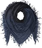 Chan Luu Women's Shadow Dye Cashmere and Silk Scarf Total Eclipse/Black One Size