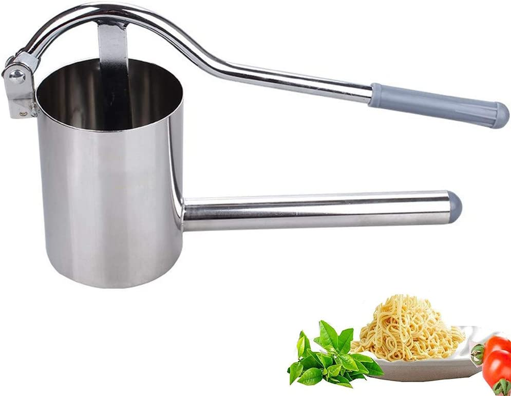 VolksRose Stainless Steel Noodle Maker, Manual Pasta Maker, Fresh Noodles Press Pasta Spaghetti Making Machine, Vegetable Fruit Juicer Kitchen Tool Accessories #4