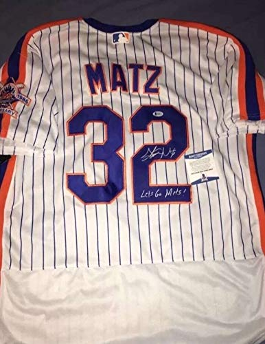 check out 8fd00 e27fd Steven Matz Autographed Signed New York Mets Jersey Auto ...