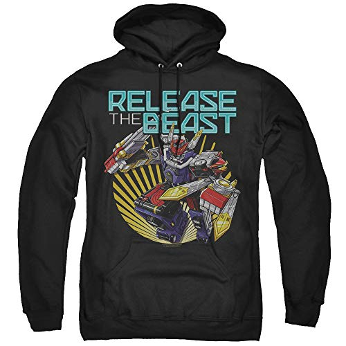 Power Rangers Beast Release Unisex Adult Pull-Over Hoodie for Men and Women, X-Large -