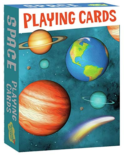 Peaceable Kingdom Solar System Playing Card Deck 52 Cards plus 2 Jokers Box