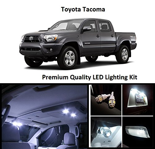 Amazon.com: EliteTech 2005   2016 Toyota Tacoma Premium LED Package (White)    Interior + License Plate (9 Pieces) 2005 2006 2007 2008 2009 2010 2011  2012 ...