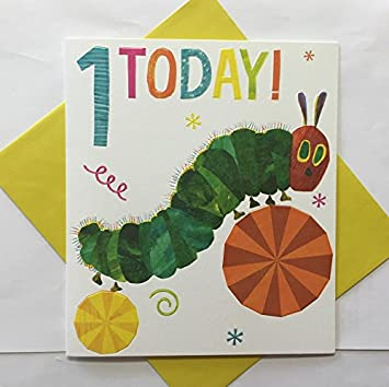 The Hungry Caterpillar 1st Birthday Card Amazon Toys Games