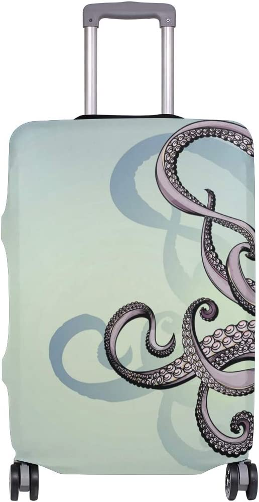 Fits 26-28 Inch Buckle Octopus Tentacle Luggage Cover Elastic Travel Suitcase Protector