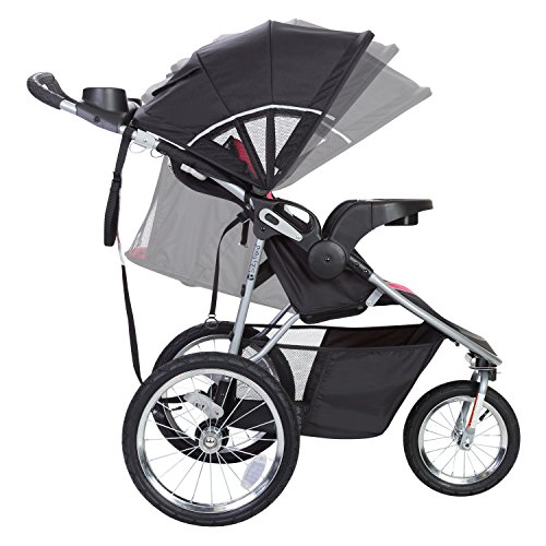 51GHEkrPGQL - Baby Trend Pathway 35 Jogger Travel System, Optic Pink