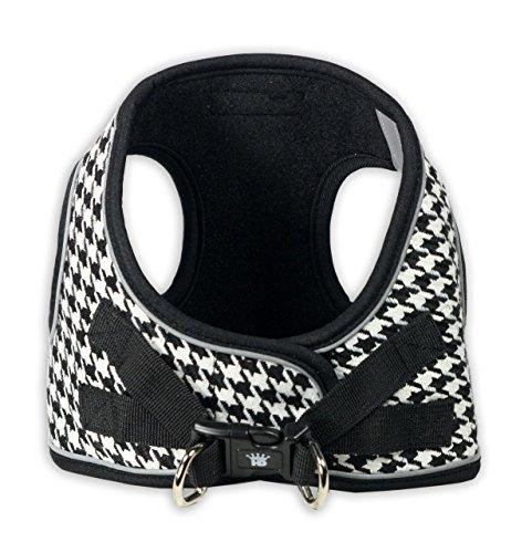Hip Doggie HD-6EZHB-XXS 2XS EZ Reflective Houndstooth Harness - - Houndstooth Dog Harness