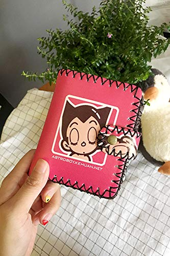 Korea Retro Printing Short Student Fashion Exquisite Soft-Girl Cute Cartoon Wallet Leather Wallet Couple Lover (Rose (Short Paragraph)