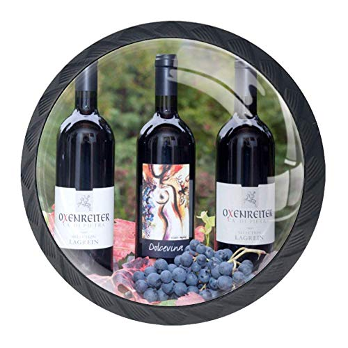 Grape Pulls Drawer - Idealiy Grape Wine Drawer Pulls Handles Cabinet Dressing Table Dresser Knob Pull Handle with Screws 4pcs