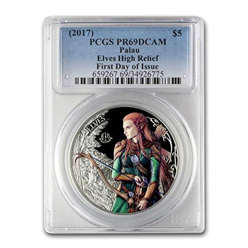 2017 PW Palau 1 oz Fantastic Fantasy (The Elves) PR-69 DCAM PCGS 1 OZ PR-69 PCGS