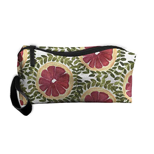 Cosmetic Bags With Zipper Makeup Bag Red Grapefruit Type Middle Wallet Hangbag Wristlet Holder