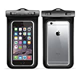 Waterproof Phone Case IPX8-Rated 2 Pack Black Waterproof Pouch Floating Dry Case Bag with iphone 7/7 plus /6s / 6 / 6s Plus/ 6 Plus, Samsung Galaxy S7(Floating Dry Case Bag)