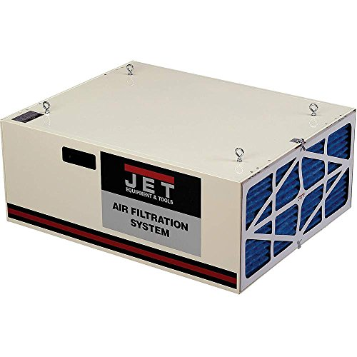 JET 708620B AFS-1000B 550/702/1044 CFM 3-Speed Air Filtration System with Remote and Electrostatic...