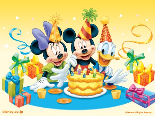 Mickey & Minnie Mouse with Donald Duck Edible Image Cake Topper Frosting Sheet]()