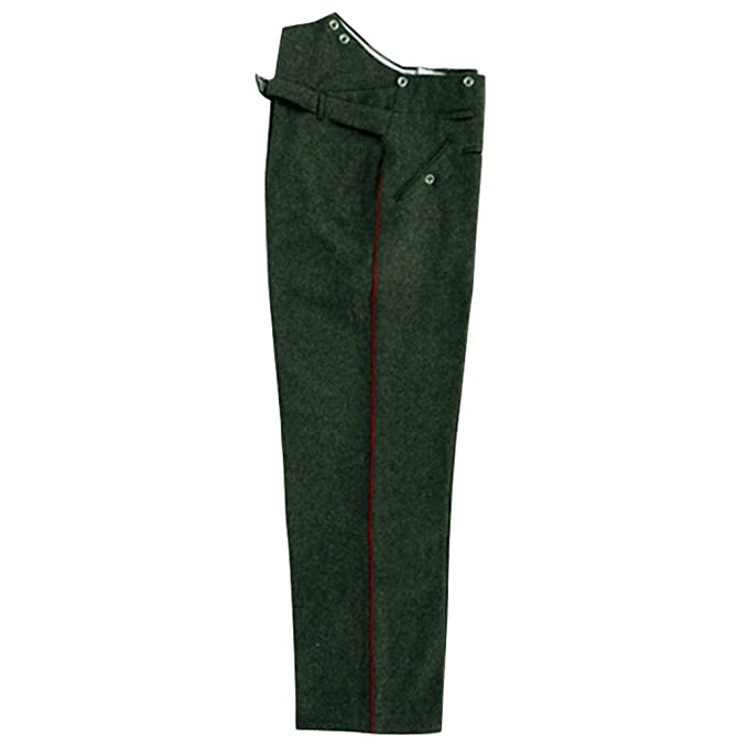 Edwardian Men's Pants, Trousers, Overalls WWI German Empire M1907 Red Pipped Feld Geey Wool Trousers $147.53 AT vintagedancer.com