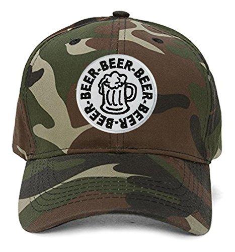 - Beer Mug Hat - Adjustable Cap in Camo
