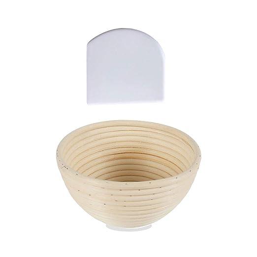 1 Pice Cesta redonda para prueba de pan, cesta de mimbre natural ...