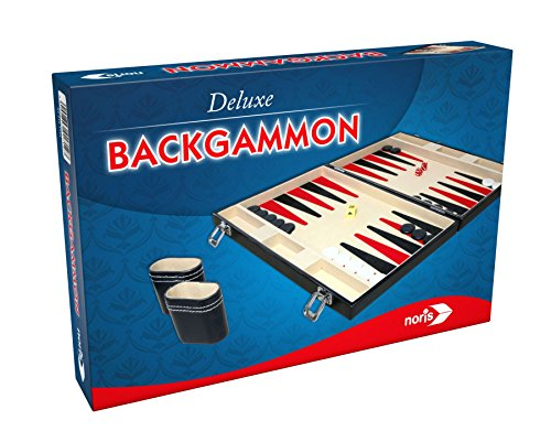 Noris Spiele 606101712 Deluxe Backgammon in Case