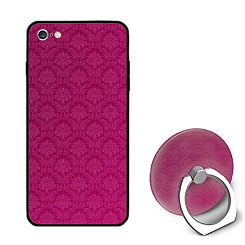 Awesome Damask iPhone 6S Case/iPhone 6 Case Rubber Shockproof Cover with Ring Kickstand Compatible with iPhone 6 / 6S