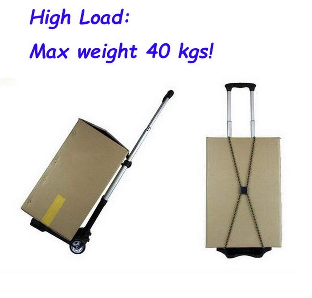 Portable Folding Hand Truck Dolly Utility Cart Foldable Trolley put in Backpack Push Luggage Flatbed Cart by nice--buy (Image #9)