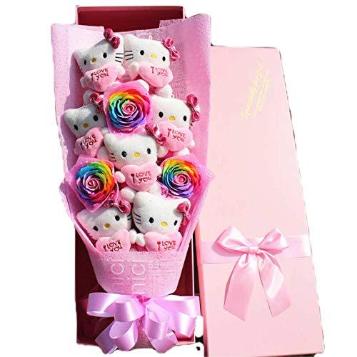 Disnation Cute Cartoon Hellokitty Dolls Creative Flower Bouquet for Women