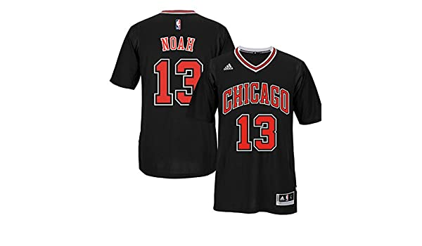 f6d406699a1 Amazon.com : Chicago Bulls Joakim Noah Adidas Black 2014-2015 Short Sleeve  Swingman Jersey : Sports & Outdoors
